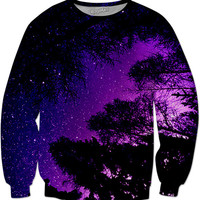Night Sky Sweat Shirt ( Purple )