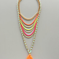 Neon Wishes Statement Necklace