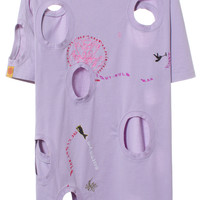 PURPLE EMBROIDERED T-SHIRT | @BjarneMelgaard | VFILES SHOP