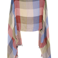 Plaid Fringe Scarve-Brown