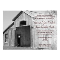 Rustic Country Rural Barn Wedding Invitations