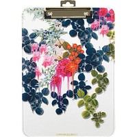 Cynthia Rowley Clipboard, Translucent Dark Blue Floral
