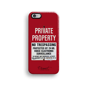 Private property warning iPhone 6 case, iPhone 6 Plus case S323