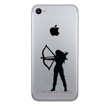 Female Archer Phone Sticker - Bow And Arrow Galaxy s6 Two Fabric Decal - iPhone 7 Stickers - Samsung Galaxy s7 Sticker - iPhone 6 Plus Decor