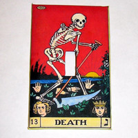 Light Switch Cover - Light Switch Plate Death Tarot Card
