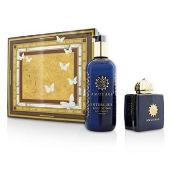 Amouage Interlude Coffret: Eau De Parfum Spray 100ml/3.4oz + Body Lotion 300ml/10oz Ladies Fragrance