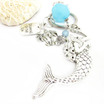 Dreaming of the Sea Mermaid Keychain