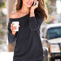 Fleece Off-the-Shoulder Tunic - Victoria's Secret