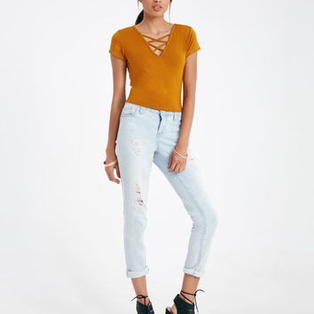 Strappy Front Crop Top | Wet Seal