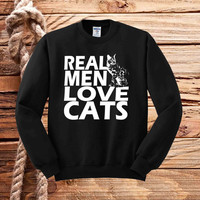 real men love cat  sweater unisex adults