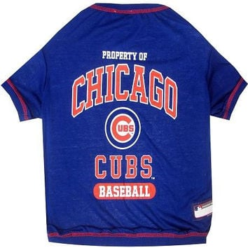 Chicago Cubs Baseball Dog Shirt XS