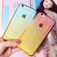 Laser Transparent Iphone Cases for 5s 6s 6 plus