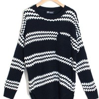 @Free Shipping@ Women Black Knitting Sweater One Size niya035b from Voguegirlgo
