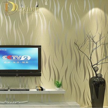 modern luxury 3D wallpaper stripe wall paper papel de parede damask wall paper for living room bedroom TV sofa background R178