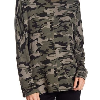H By Bordeaux | Camo Dolman Fleece | Nordstrom Rack