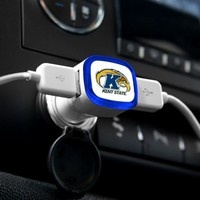 NCAA Kent State Golden Flashes Car Charger, White