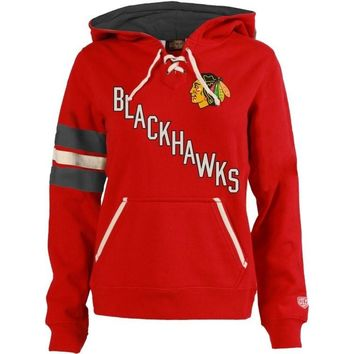 Women's Chicago Blackhawks Old Time Hockey Nadia Red Hoodie