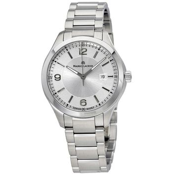 Maurice Lacroix Miros Date Silver Dial Stainless Steel Ladies Watch