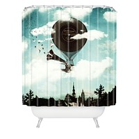 Belle13 Swan Lake Flight Shower Curtain