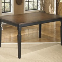 D580-25 Owingsville Rectangular Dining Room Table - Black/Brown - Free Shipping!