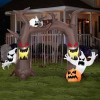 SheilaShrubs.com: Airblown Inflatable Archway-Ghostly Tree with Pumpkins 53765X by Gemmy: Halloween