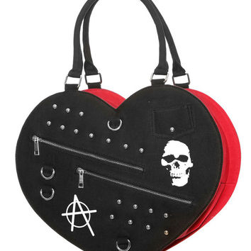 Jawbreaker Big Punk Heart Handbag
