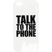 White talk to the phone iPhone 5 case