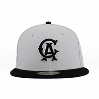California Angels Gray & Black New Era Custom 59fifty 5950 New Era Store