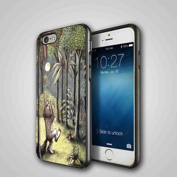 Where the Wild Things are, iPhone 4/4S, 5/5S, 5C Series Hard Plastic Case