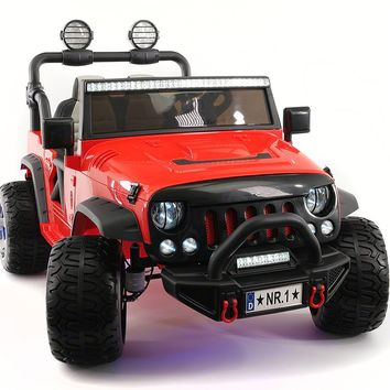 Explorer 12V Kids Ride-On Car Truck with R/C Parental Remote | Red