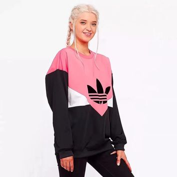 Adidas Women Fashion Long Sleeve Pullover Sweatshirt Top Sweater