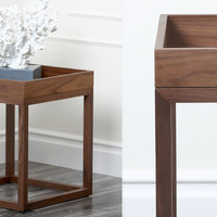 Charles Square Walnut End Table