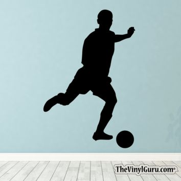Soccer Wall Decal - Man Futbol Player Sticker #00012