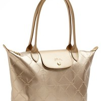 Longchamp 'Medium LM Metal' Shoulder Tote