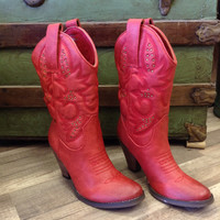 New! Cowboy Boot - Red