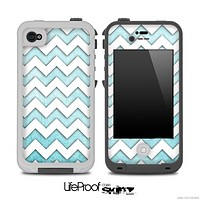 Subtle Blue and White Chevron Pattern for the iPhone 5 or 4/4s LifeProof Case