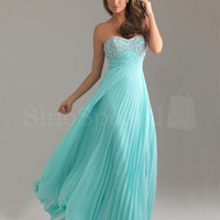 Attractive A-line Empire Waist Pleat Graduation Dress