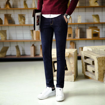 Winter Korean Slim Stretch Jeans [6541373123]
