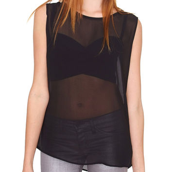 Beyond Love Chiffon Top - Black