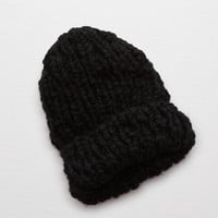 Aerie Hand Knit Beanie , True Black