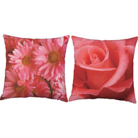 Set of 2 Photo Realistic Flower Pillows - Nature Pillow Covers with or w/out Cushion Inserts - Spring Flower Print, Rose Print Pillow, Decor
