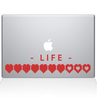 Life Heart Meter Macbook Decal | The Decal Guru