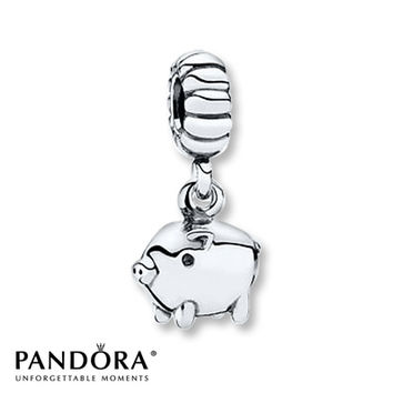 Pandora Dangle Charm Piggy Sterling Silver