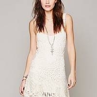 Free People Womens Radiance Crochet Dress - White, L