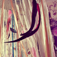 Hanging Play Canopy - Boho Nursery - Fairy Tale Play Tent - Bed Canopy - Boho Playhouse - Dreamcatcher Bed Tent - Made to Order