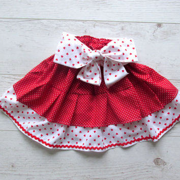 Toddler skirt, Red Girls Skirt, Toddler Ruffle Skirt, Baby Ruffle Skirt,  Girls Skirt , 2 Tiers Skirt, Tiered Skirt