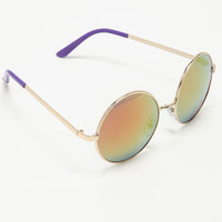 Purple Neon Round Sunglasses - LoveCulture