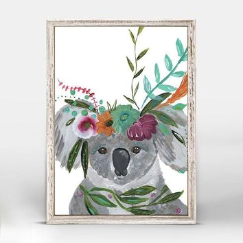 Boho Koala Mini Framed Canvas