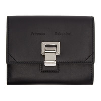 Black Leather Courier Wallet