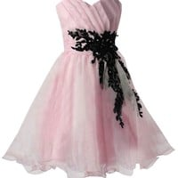 Sunvary 2014 Organza Mini Gowns for Girls Homecoming Dresses with Appliques